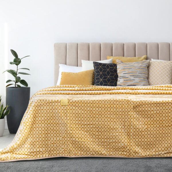 Κουβέρτα μονόχρωμη μονή Art 11000 σε 6 αποχρώσεις 160x220 Beauty Home