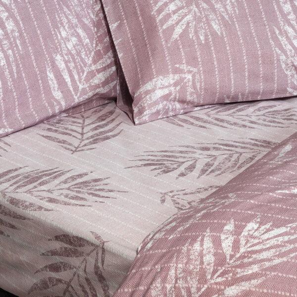 Σετ κουβερλί μονό Zane Art 1967 160x240 Ροζ Beauty Home