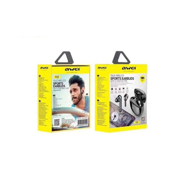 Ασύρματα ακουστικά με βάση φόρτισης - T15 - AWEI - Black