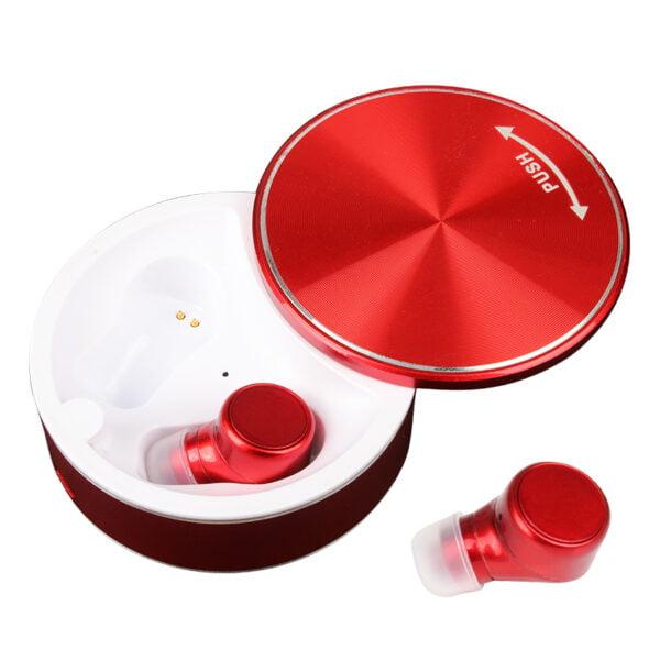 Ασύρματα ακουστικά με βάση φόρτισης – TWS – M7 - Red