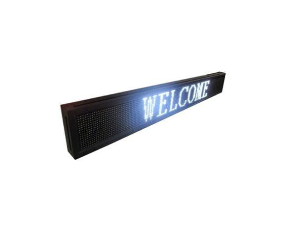 Πινακίδα LED – Μονής όψης – Λευκή – 103cm×40cm